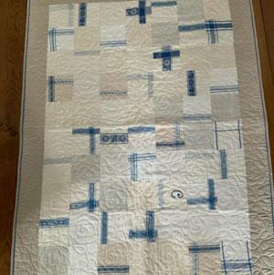 Sy en quilt –  använda handdukar/dukar på nytt och nyttigt sätt
